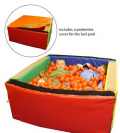 Toddler Square Ball Pool With 1000 Balls,toddler Ball Pool,special needs ball pool,sensory play ball pool,Sensory room ball pool